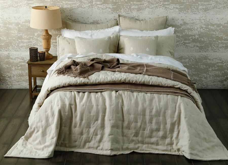 MM Linen Laundered Linen Bedspread Natural
