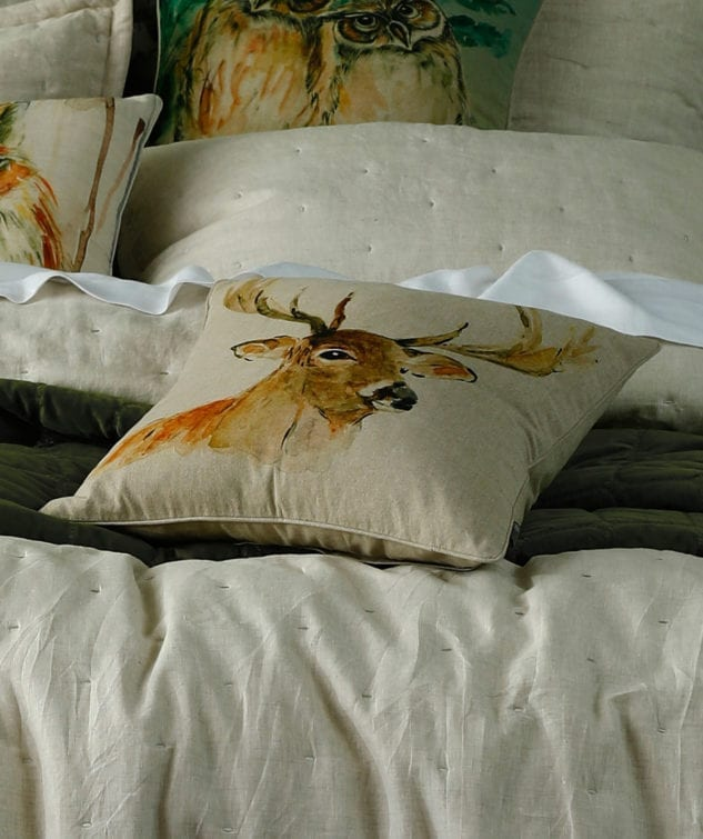 MM Linen Stag Cushion