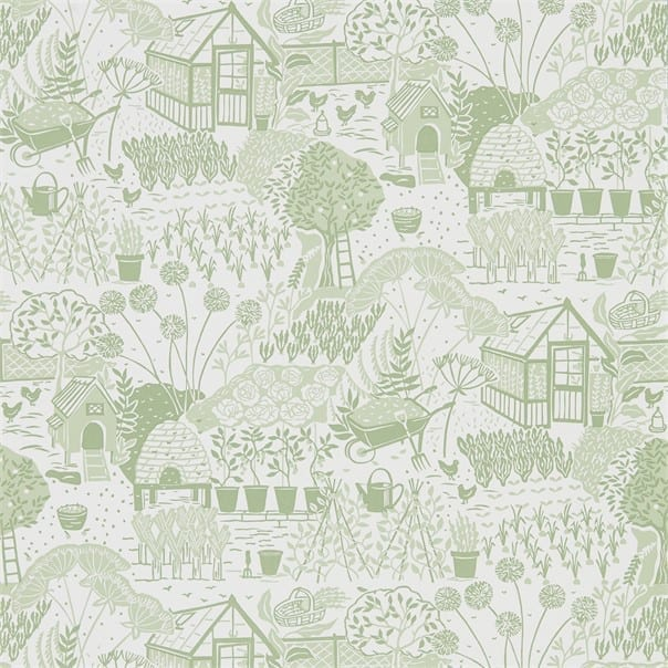 Sanderson The Potting Room Fabric Collection The Allotment