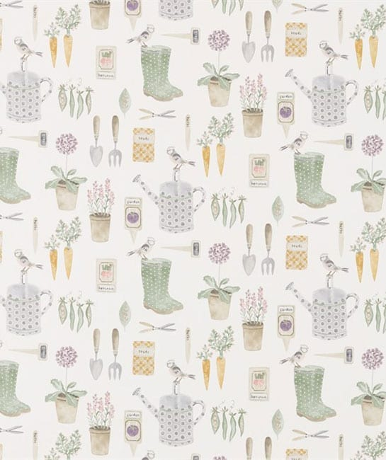 Sanderson The Potting Room Fabric Collection The Gardener