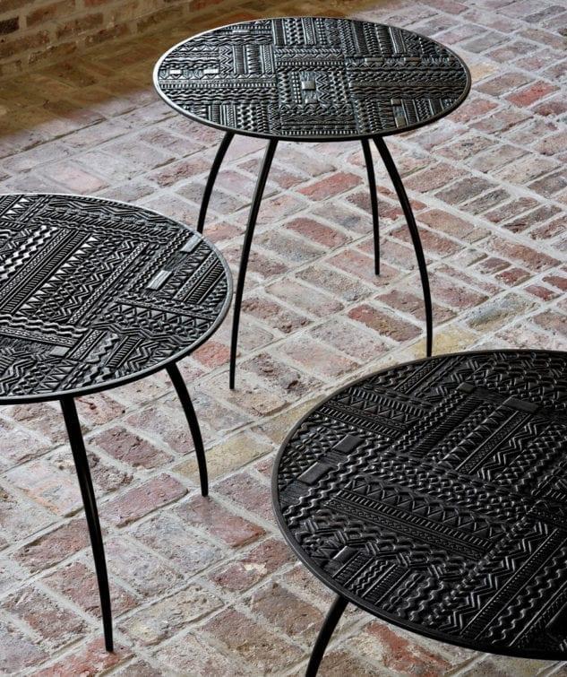 Ancestors Tabwa Round Tray Table