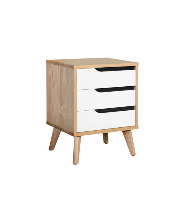 Woodpecker Furniture Astro 3 Drawer Bedside