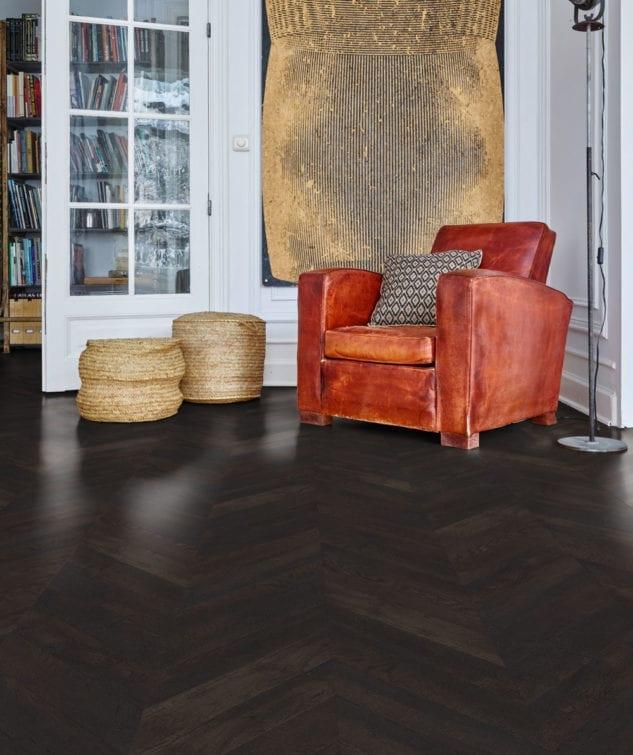 Robert Malcolm Moduleo Moods Chevron Vinyl Parquet Flooring Country Oak 54991 633x755