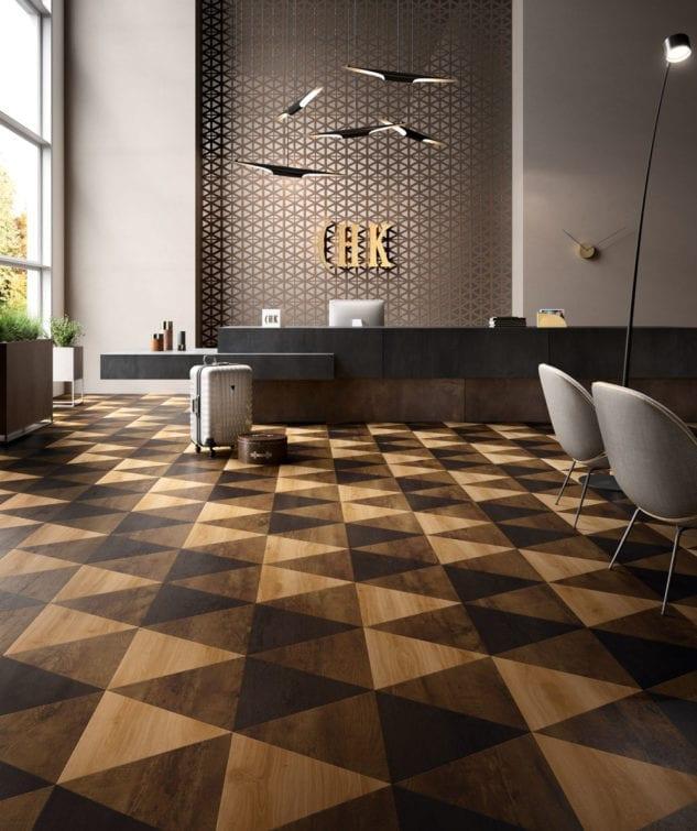 Robert Malcolm Moduleo Moods Triangle Vinyl Parquet Flooring