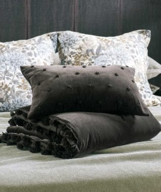 Bianca Lorenne Arancia Comforter and cushion Walnut 316x377
