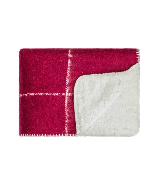 Linens & More Grid Sherpa Throw