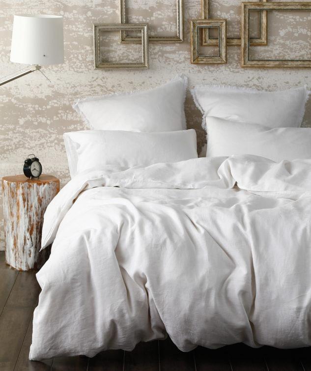Laundered Linen White Duvet