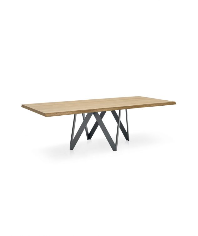 Calligaris Cartesio 2000mm Dining Table in Natural Oak/Grey Leg