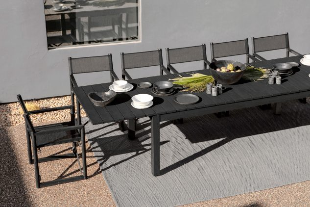 Harbour Pacific Extension Dining Table Charcoal 2 633x422