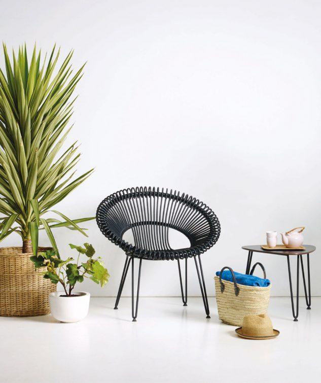 Vincent Sheppard Roy Lazy Lounge Chair Black 1 633x755