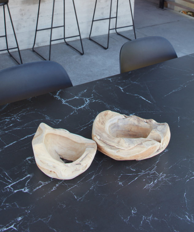 Jati & Kebon Linate Outdoor Dining Table Marble Top