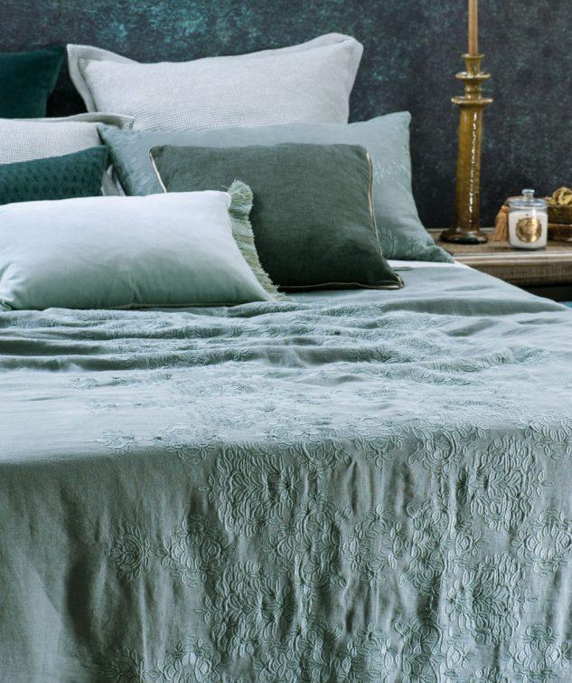 Bianca Lorenne Rabat Bedspread lagoon 633x755