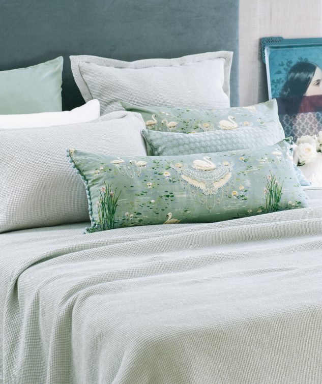 Bianca Lorenne Sottobosco Pale Ocean Bedspread 633x755