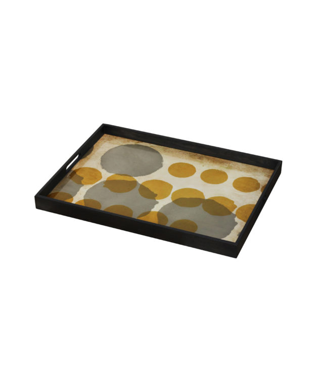 Notre Monde Tray Rectangle Large Sienna Layered Dot 2 633x755