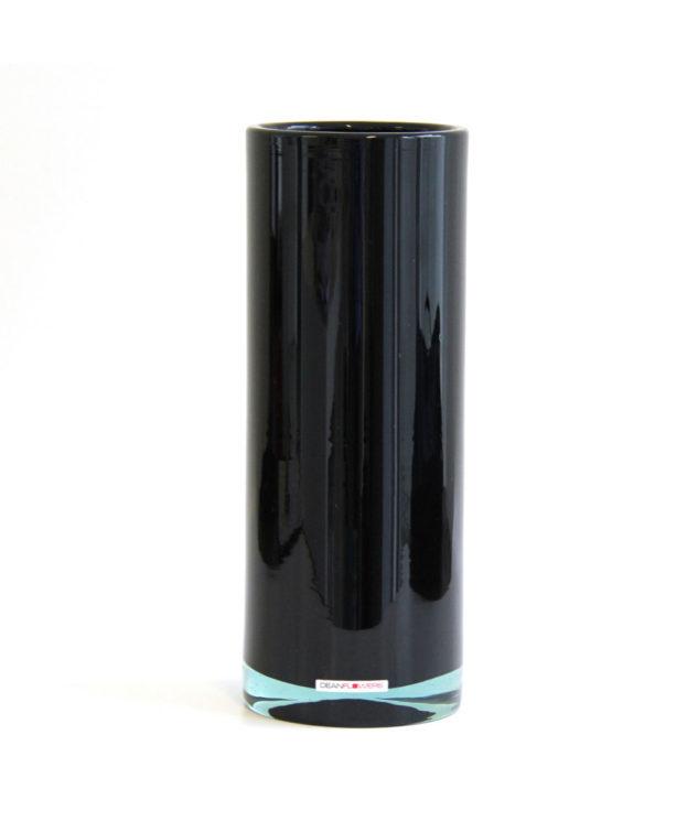 Henry Dean Small Cylinder Vase in Black