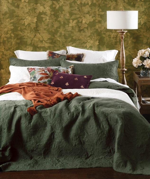 MM Linen Ancara Bedspread Set Clover 1 633x755