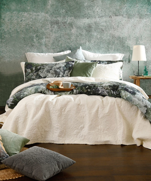 MM Linen Ancara Bedspread Set Ivory 1 633x755