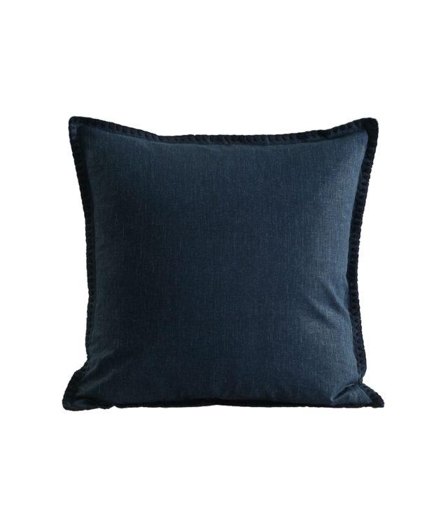 MM Linen Stitch Cushion Navy