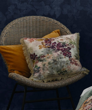 MM Linen Wildflower Square Cushion