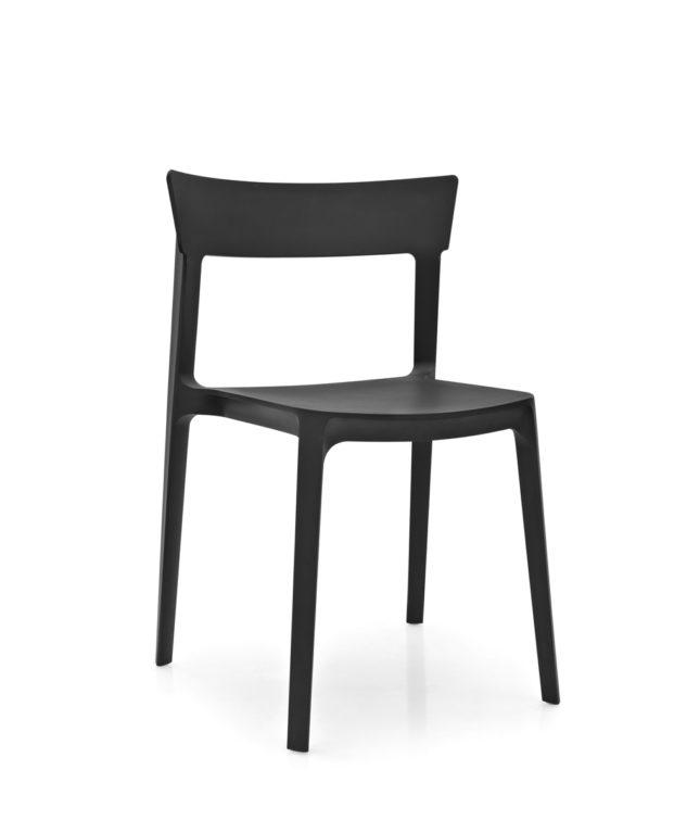 Calligaris Skin Dining Chair Black Clear Cut 633x755