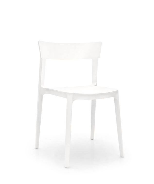 Calligaris Skin Dining Chair White Clear Cut 633x755