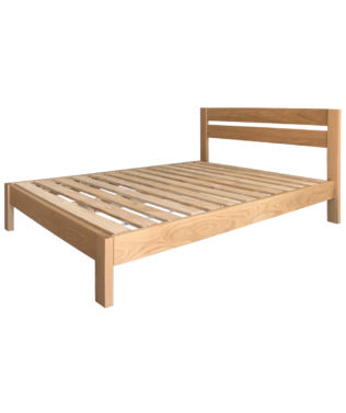 East West Designs Metro Oak Slat Bed Frame