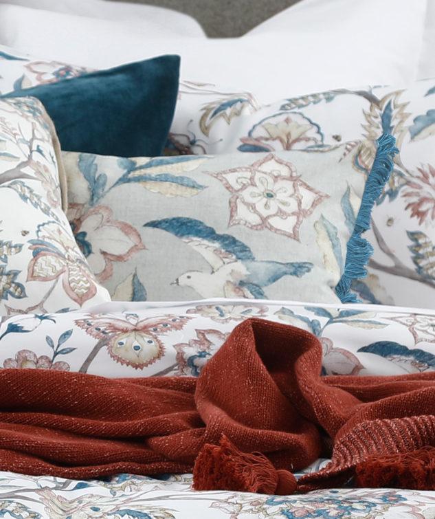 MM Linen Kabrini Fringe Cushion