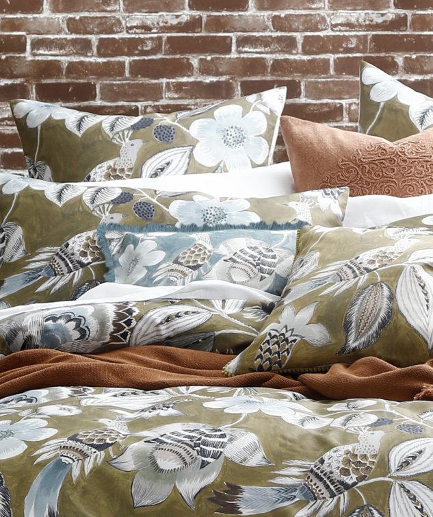 MM Linen Lark Fringe Cushion