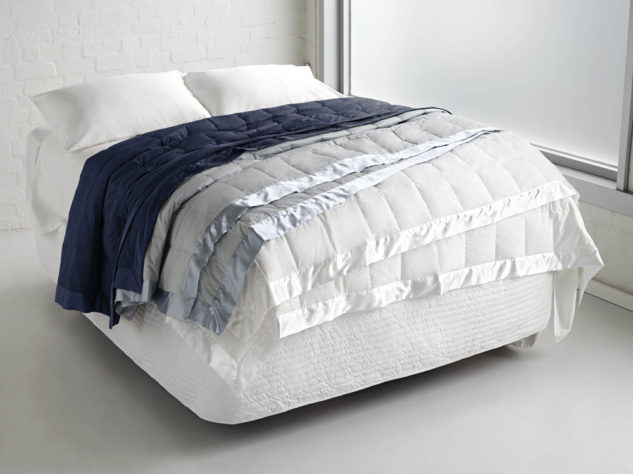 Fairy Down Espresso Blanket White Blue night Casper