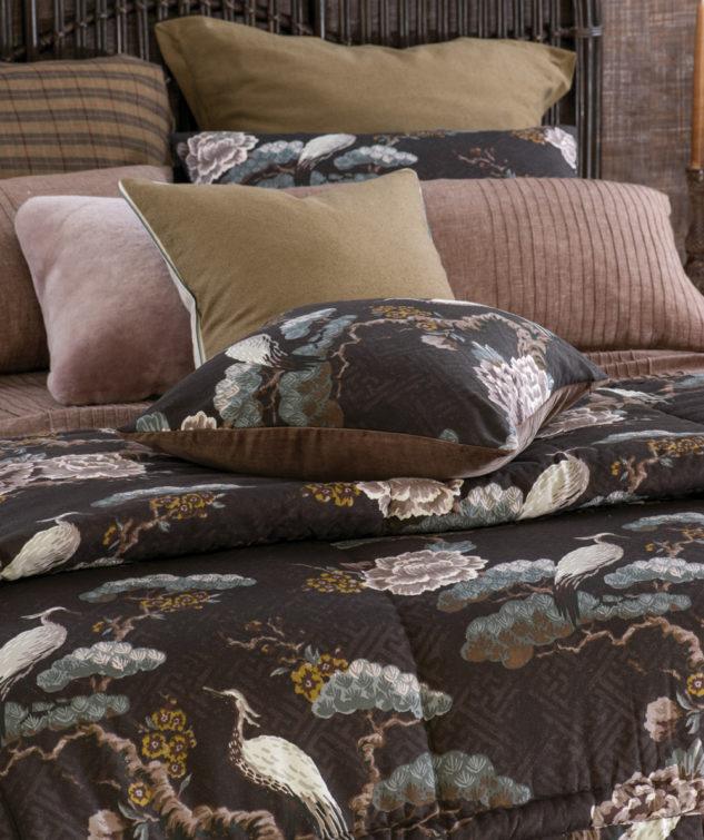 kuren walnut comforter and cushion