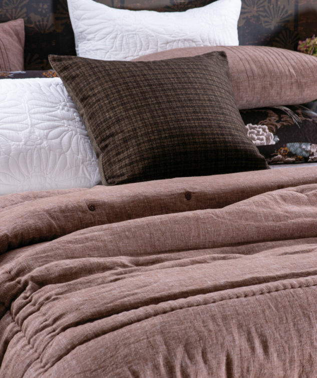 marcello rosewood comforter and Koshijima cushion