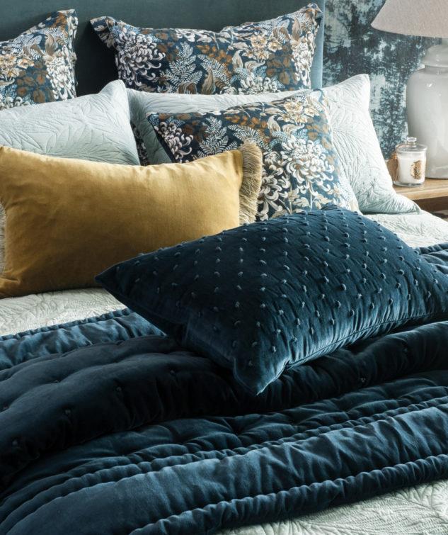 Mica Indigo Cushion and comforter