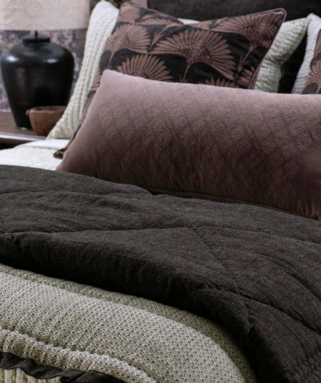 tessere walnut comforter