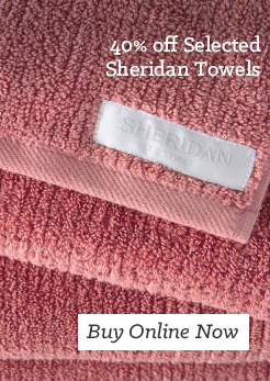 MM 40 off Selected Sheridan Towels