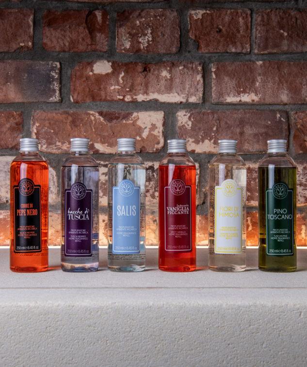 MM Linen Erbario Toscano diffuser refill bottle group  633x755
