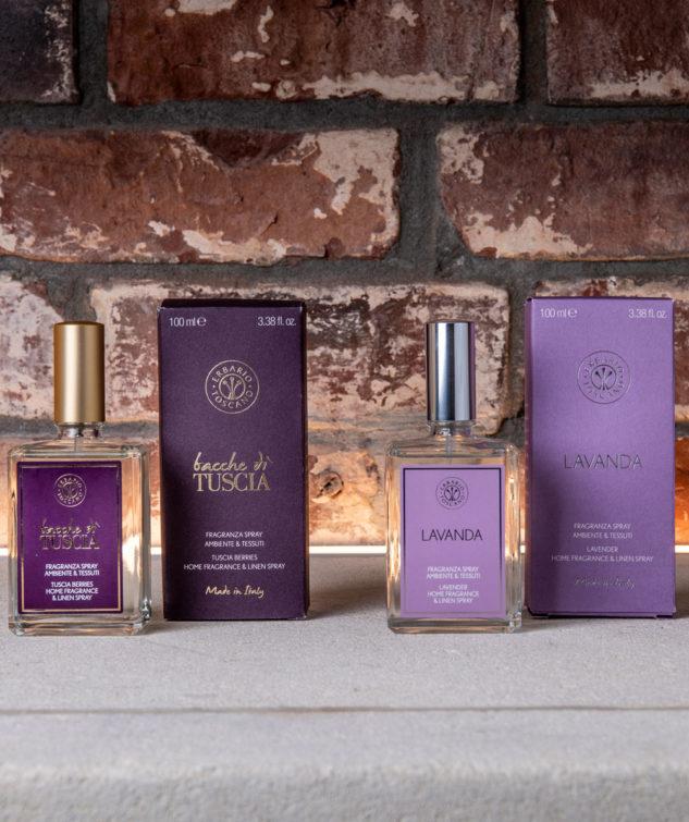 MM Linen Erbario Toscano home fragrance and linen spray group shot  633x755