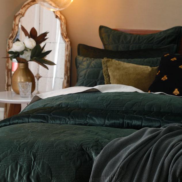 MM Linen Florentina Bedspread Sycamore 2 633x633