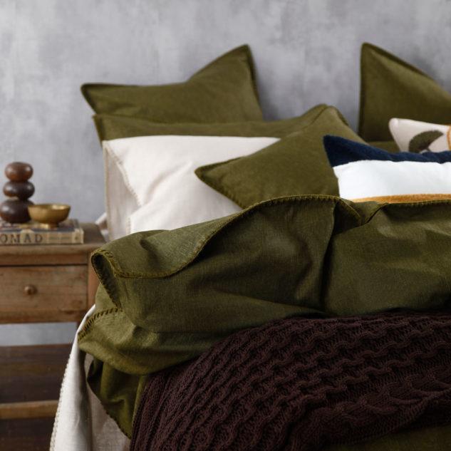 MM Linen Stitch Duvet set Kahaki 2 633x633