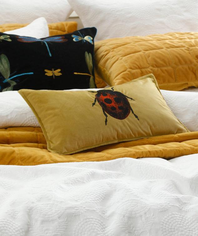 MM Linen Ladybird Cushion