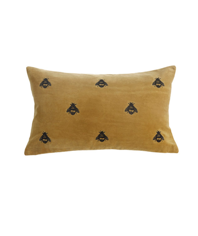 MM Linen Buzz Mustard emb cushion 50x30 1 2 633x755