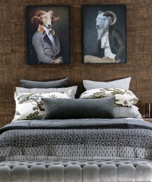 bianca lorenne tramonto charcoal comforter lifestyle 2 633x755